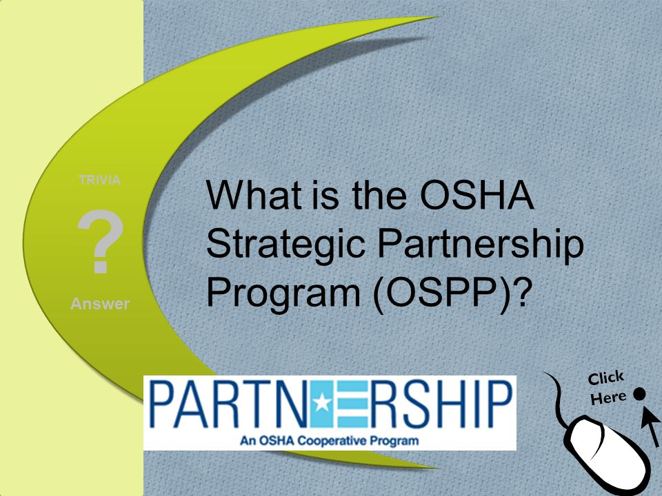 What is the OSHA Strategic Partnership Program (OSPP)