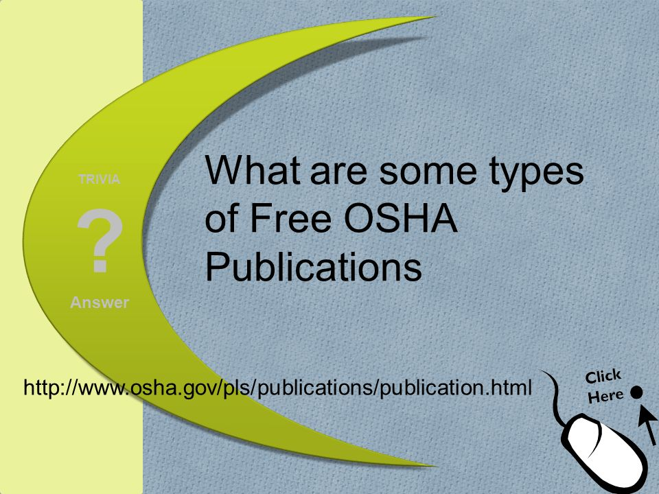 What are some types of Free OSHA Publications
