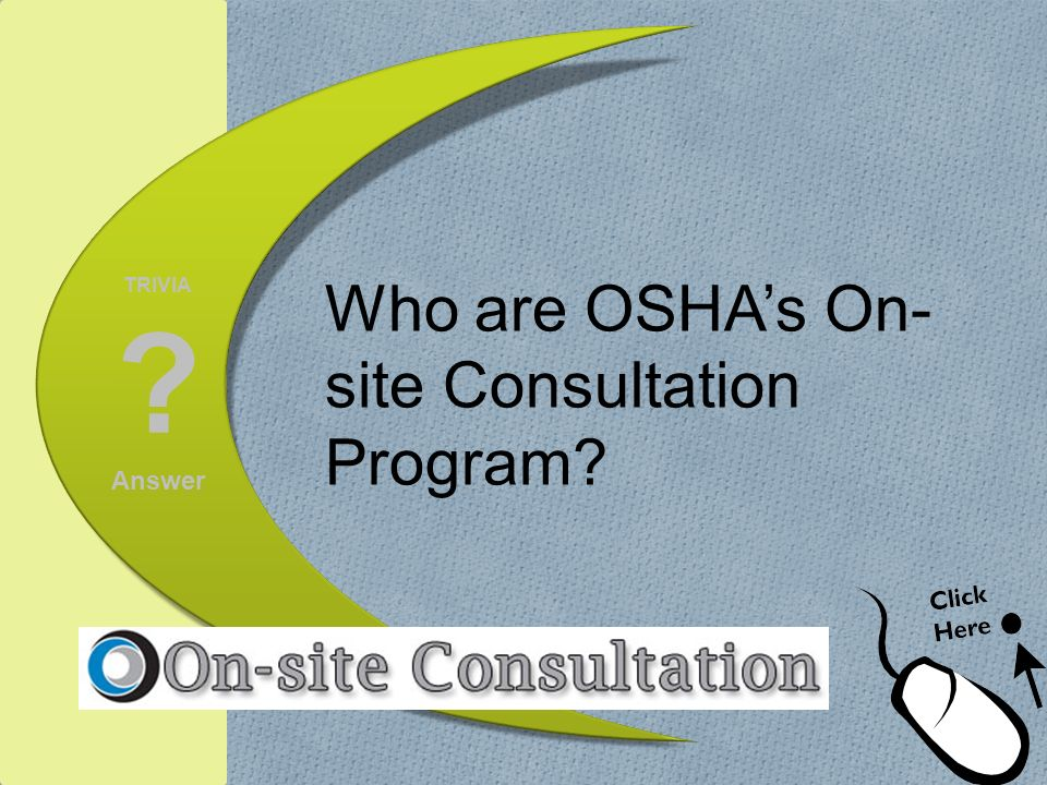 Who are OSHA's On-site Consultation Program