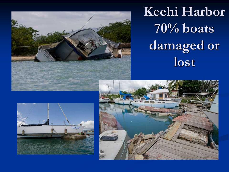 Keehi Harbor 70% boats damaged or lost