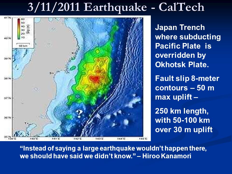 3/11/2011 Earthquake - CalTech
