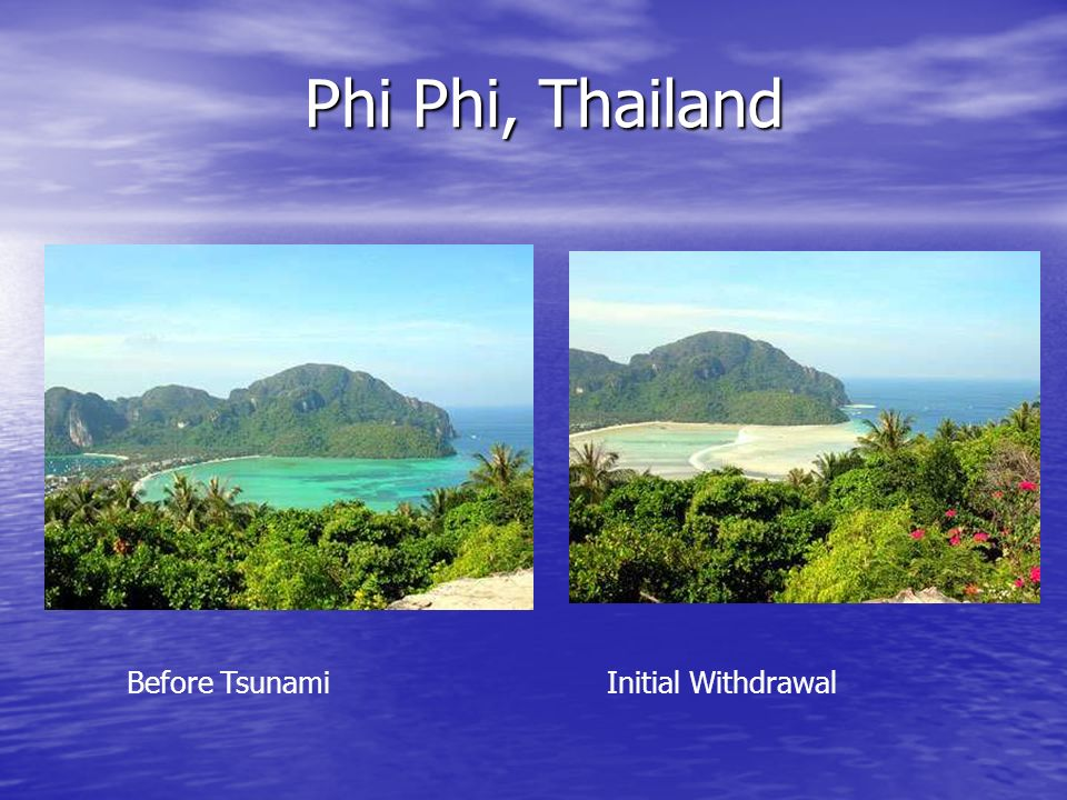 Phi Phi, Thailand Before Tsunami Initial Withdrawal