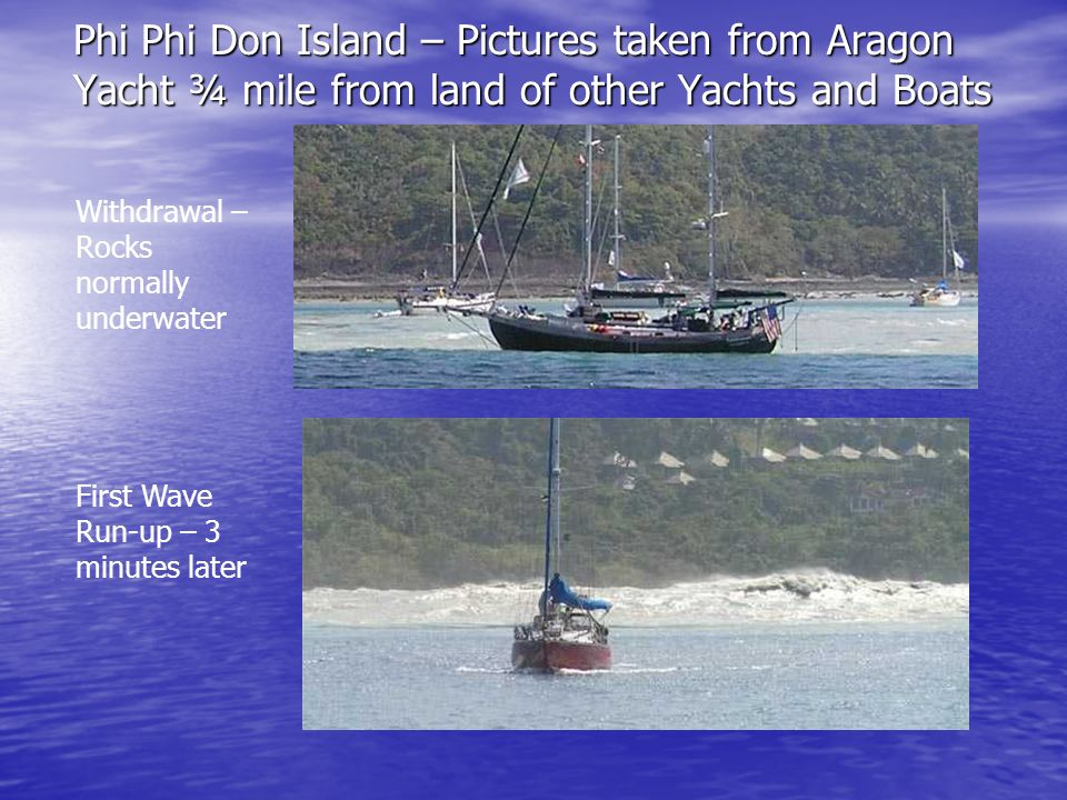 Phi Phi Don Island – Pictures taken from Aragon Yacht ¾ mile from land of other Yachts and Boats