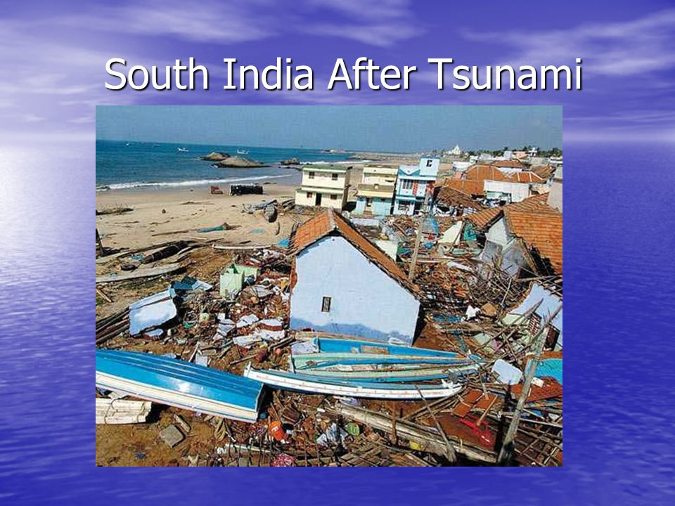 South India After Tsunami