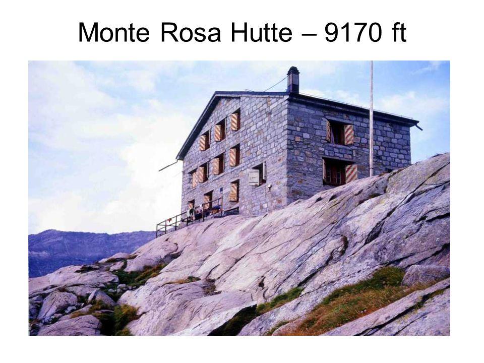 Monte Rosa Hutte – 9170 ft