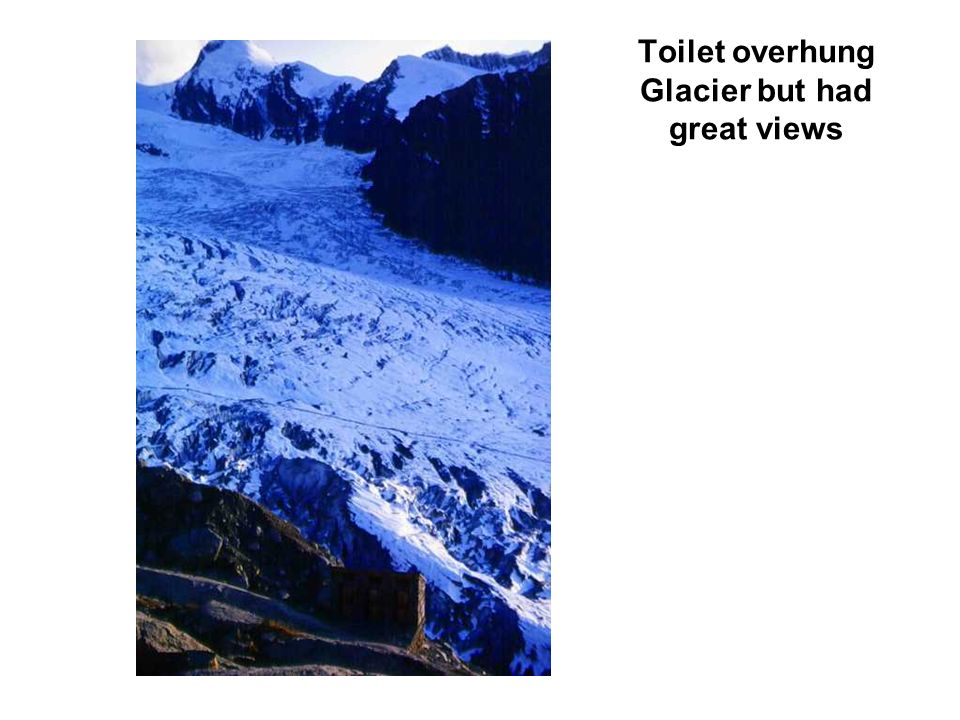 Toilet overhung Glacier but had great views