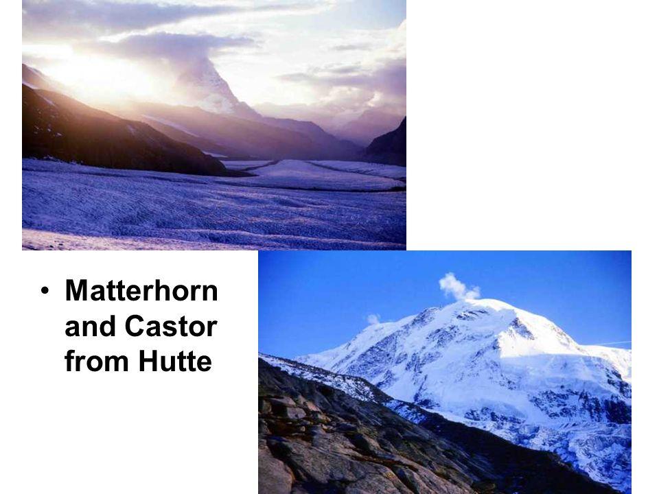 Matterhorn and Castor from Hutte