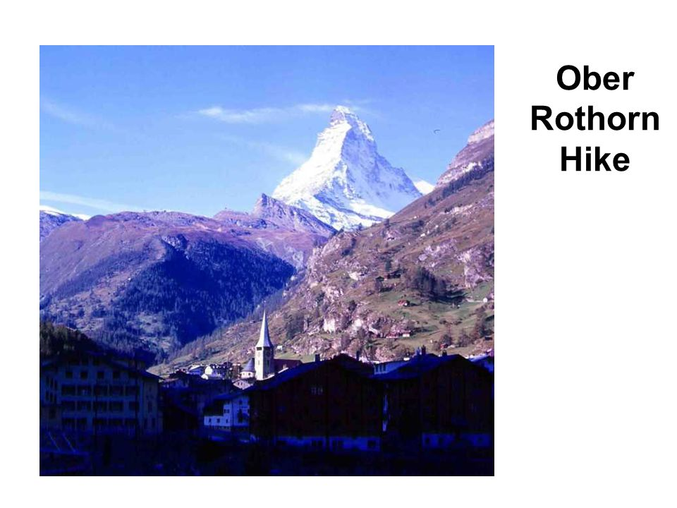 Ober Rothorn Hike