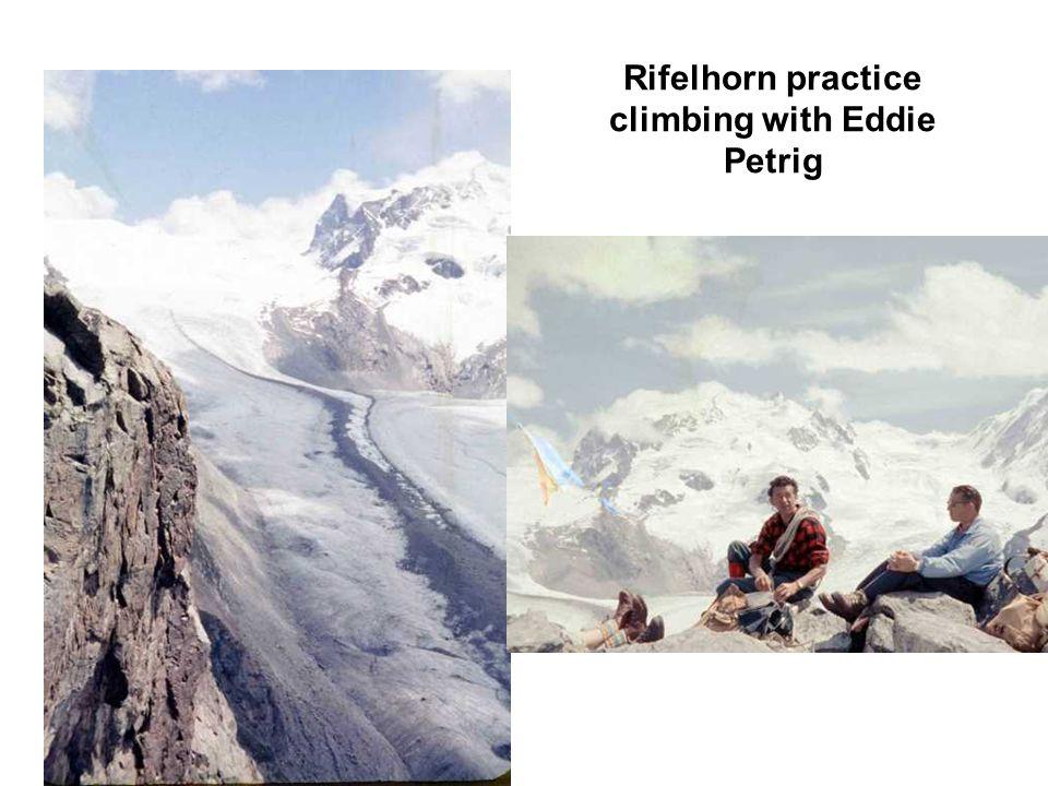 Rifelhorn practice climbing with Eddie Petrig