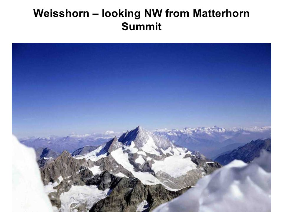 Weisshorn – looking NW from Matterhorn Summit