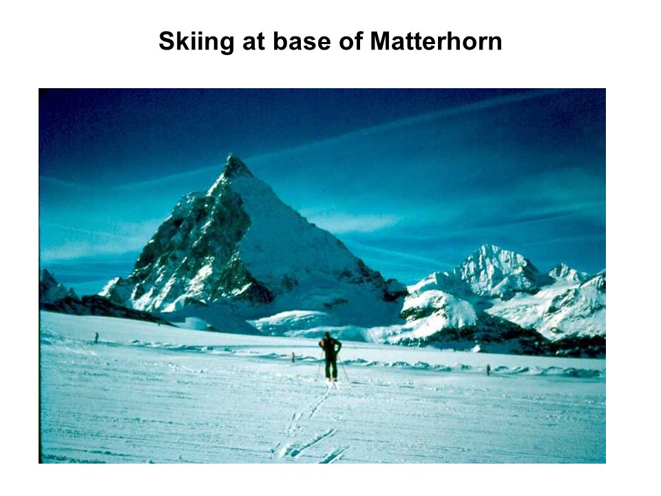 Skiing at base of Matterhorn