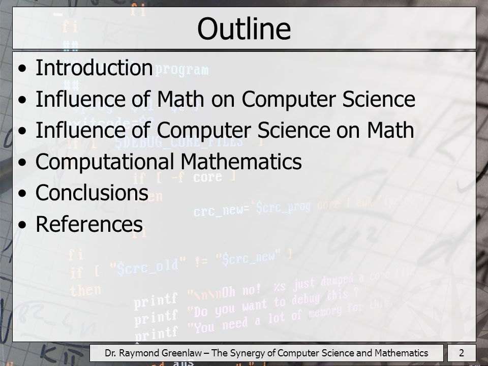 Dr. Raymond Greenlaw – The Synergy of Computer Science and Mathematics