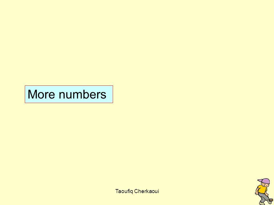 More numbers Taoufiq Cherkaoui