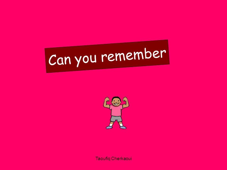 Can you remember Taoufiq Cherkaoui