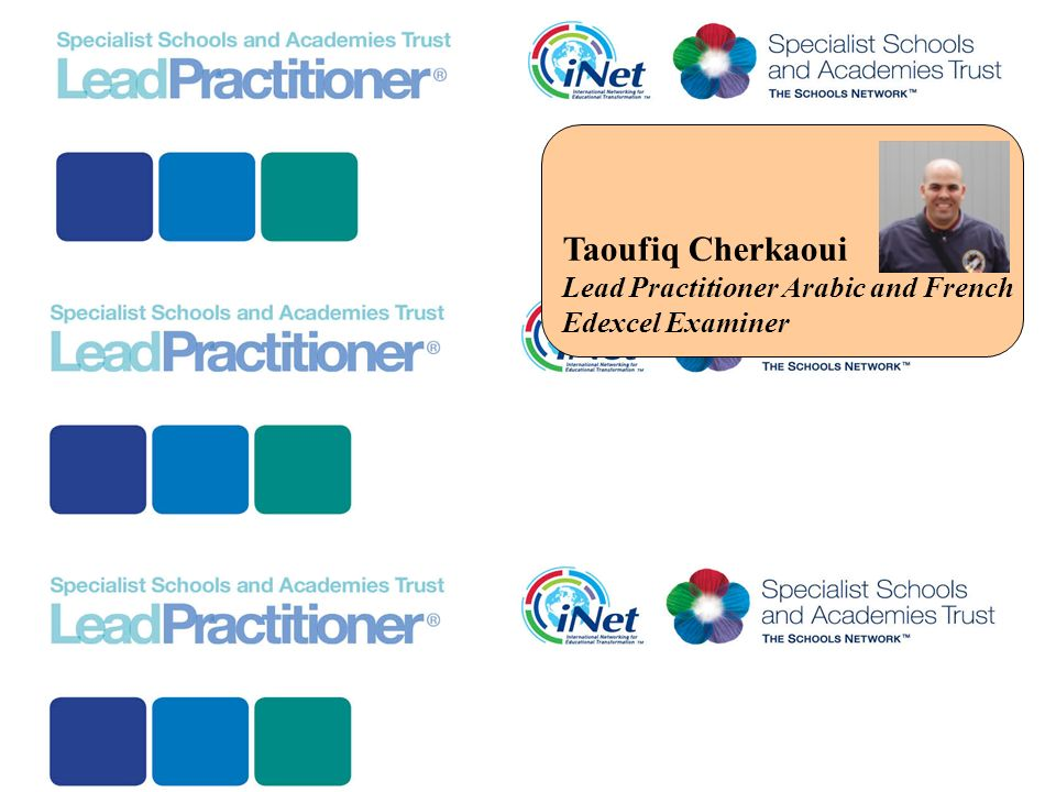 Taoufiq Cherkaoui Lead Practitioner Arabic and French Edexcel Examiner