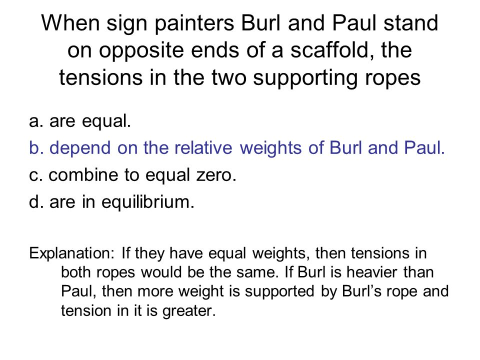 When sign painters Burl and Paul stand on opposite ends of a scaffold, the tensions in the two supporting ropes
