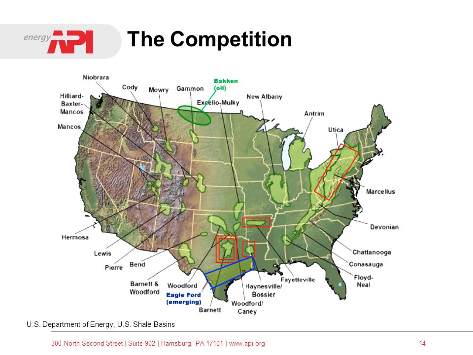 The Competition U.S. Department of Energy, U.S. Shale Basins
