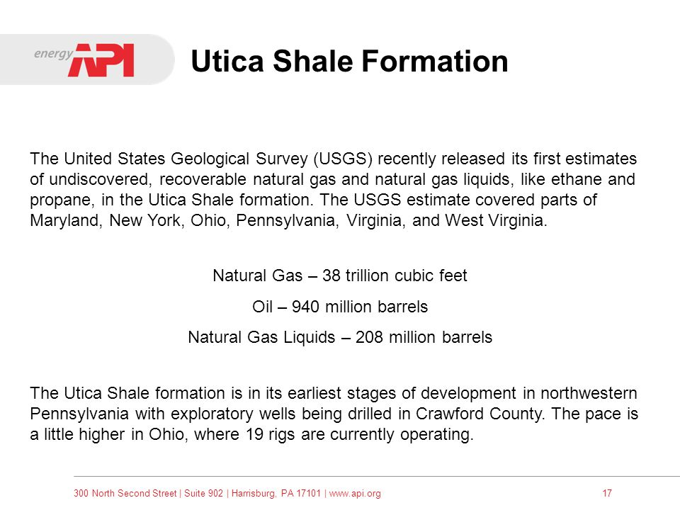 Utica Shale Formation