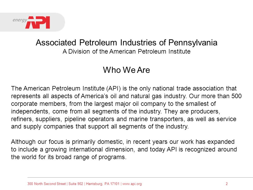 Associated Petroleum Industries of Pennsylvania