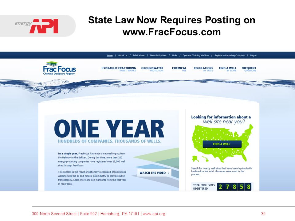 State Law Now Requires Posting on www.FracFocus.com
