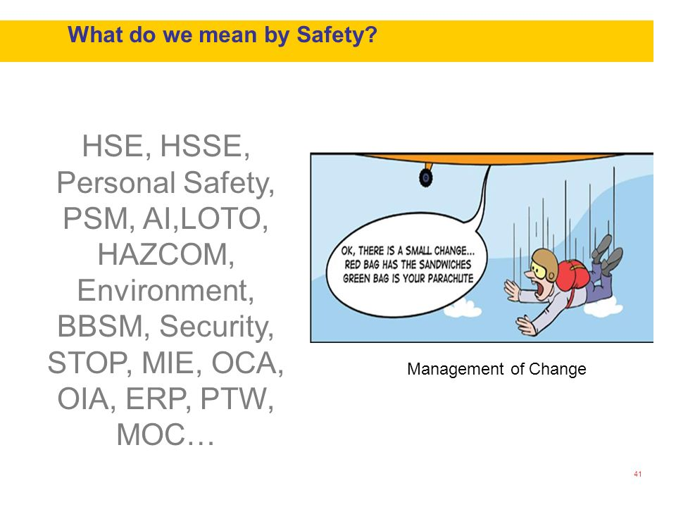 What do we mean by Safety