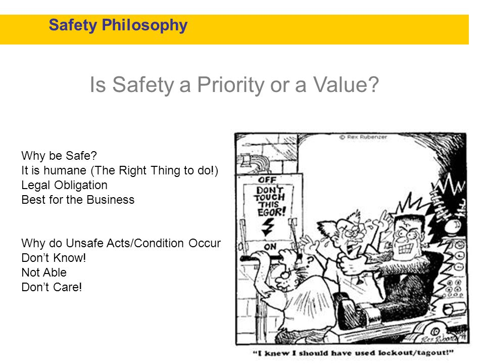 Is Safety a Priority or a Value