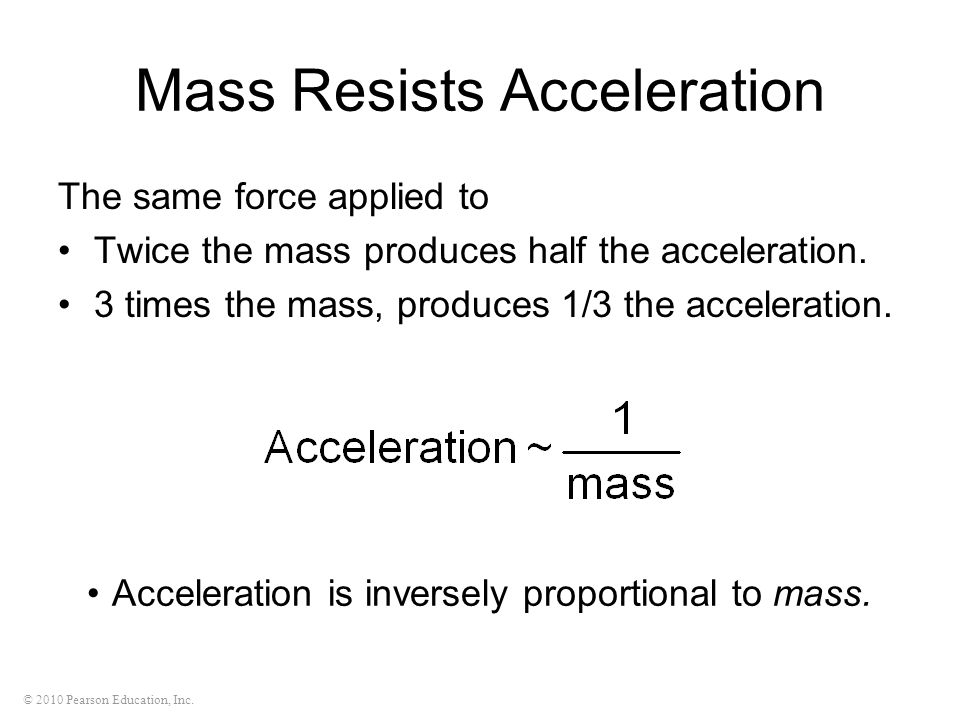 Mass Resists Acceleration