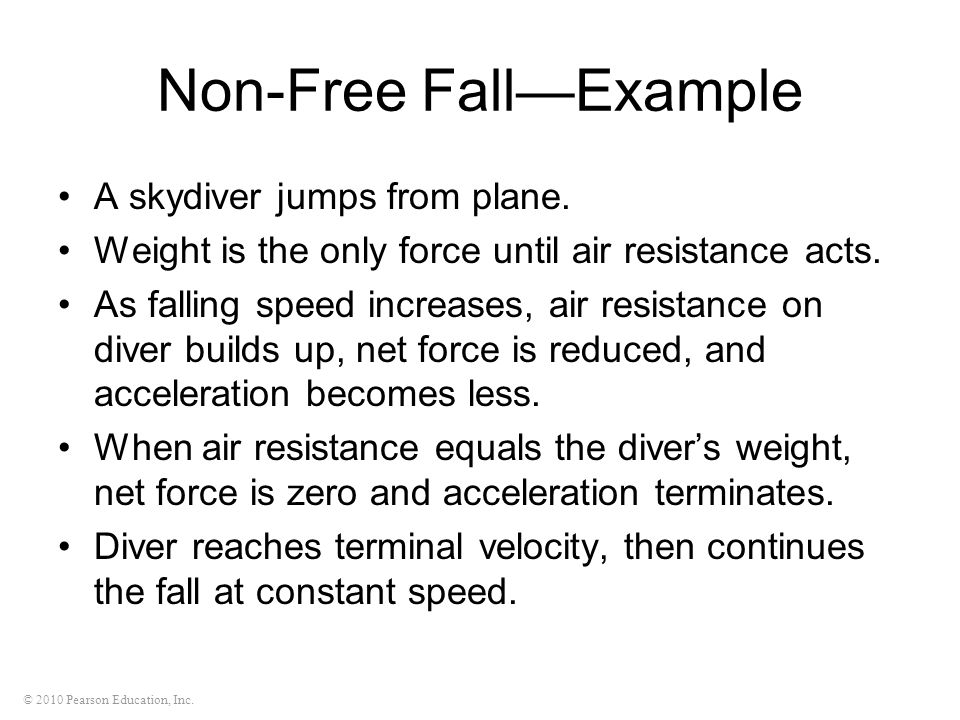 Non-Free Fall—Example