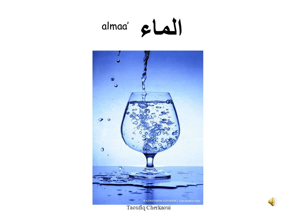 الماء almaa' Taoufiq Cherkaoui