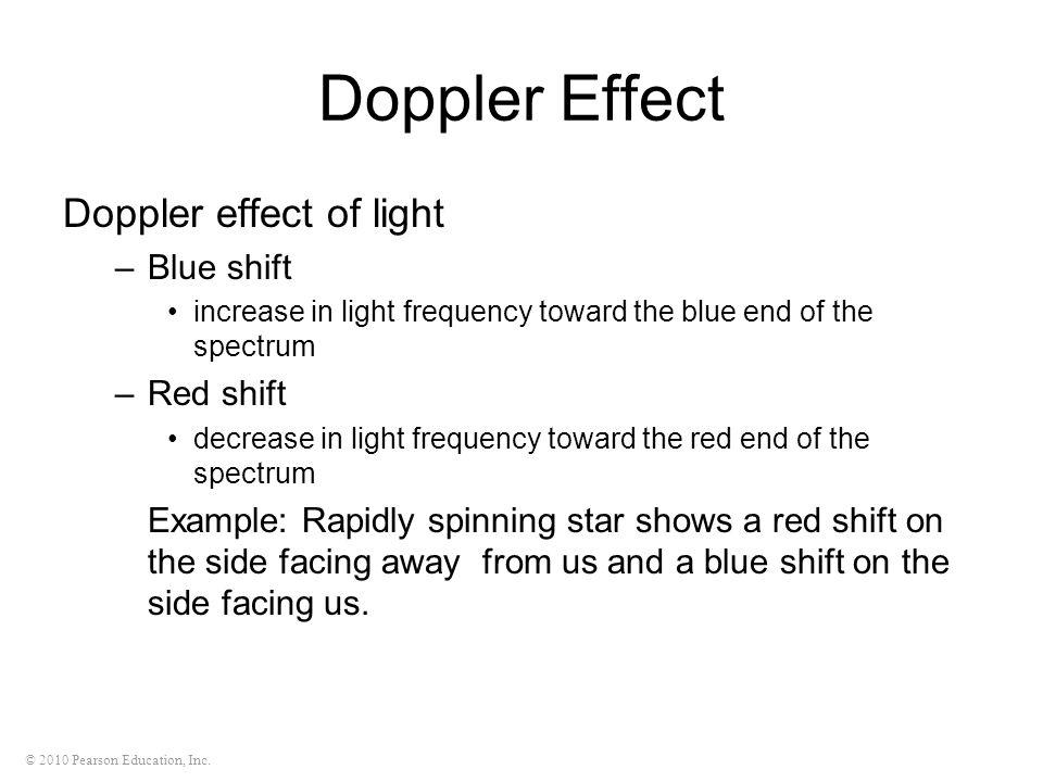 Doppler Effect Doppler effect of light Blue shift Red shift