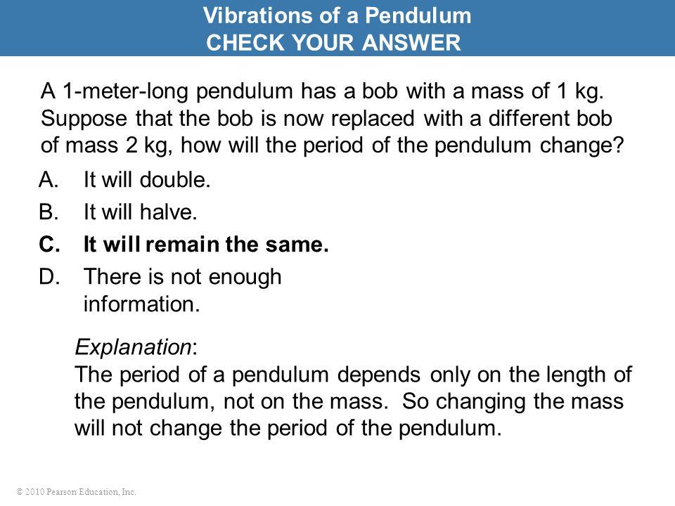 Vibrations of a Pendulum
