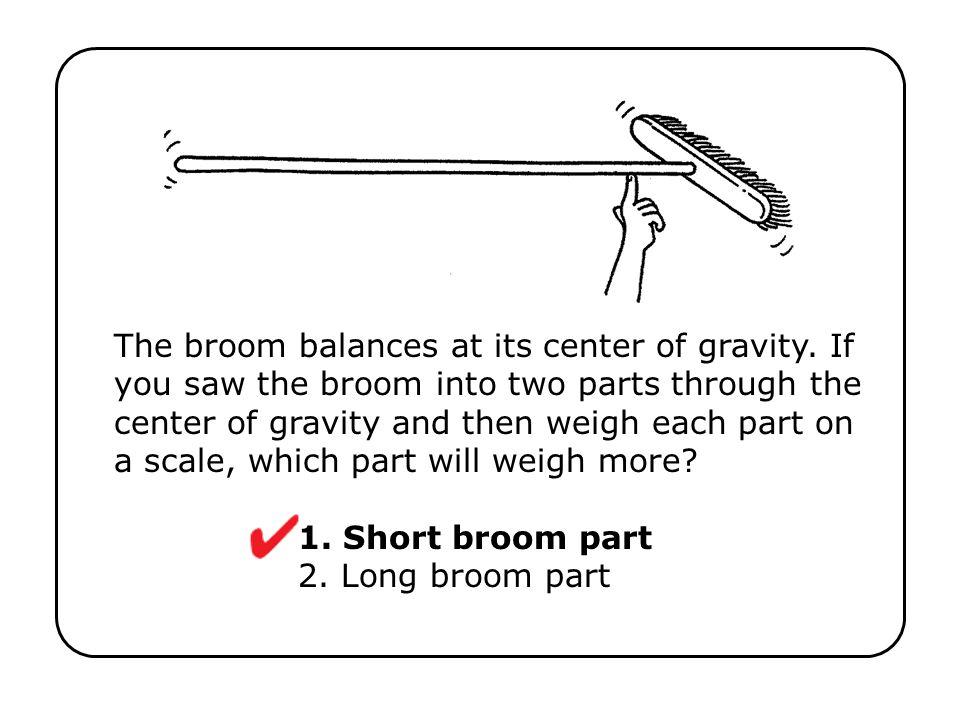 1. Short broom part 2. Long broom part