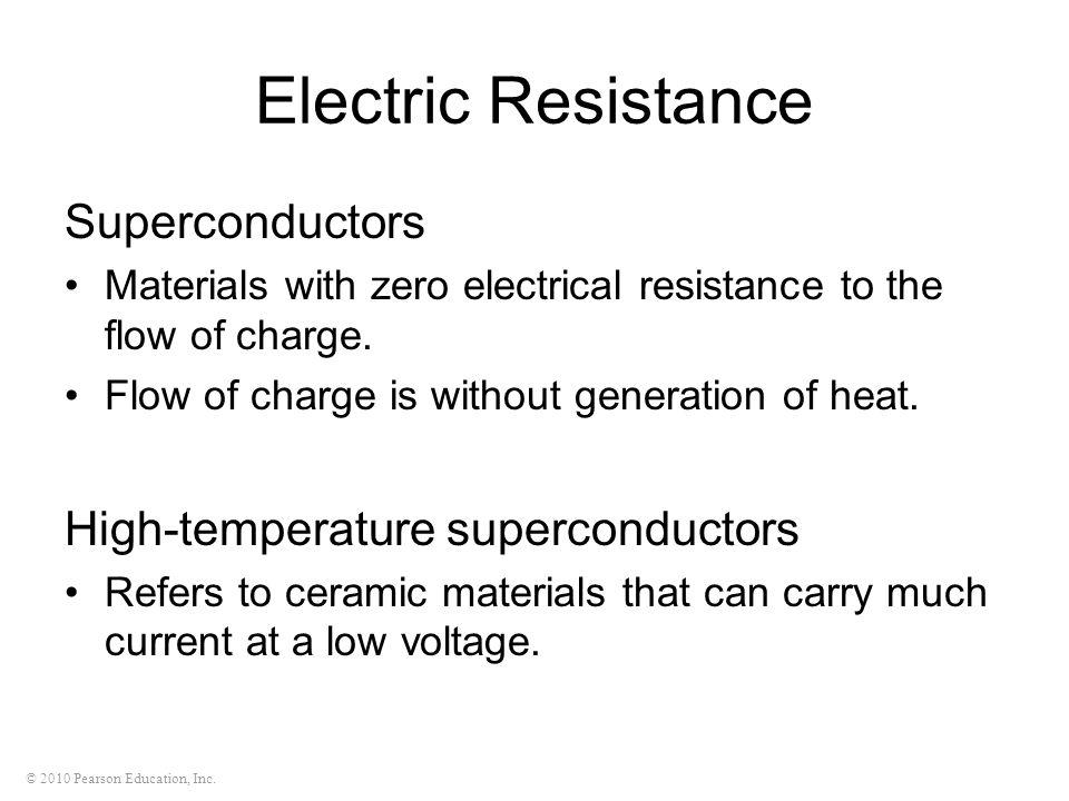 Electric Resistance Superconductors High-temperature superconductors