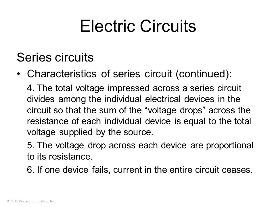 Electric Circuits Series circuits