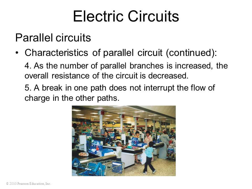 Electric Circuits Parallel circuits