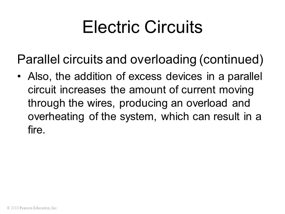 Electric Circuits Parallel circuits and overloading (continued)