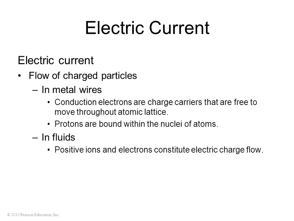 Electric Current Electric current Flow of charged particles