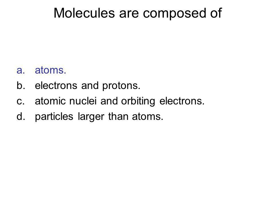 Molecules are composed of