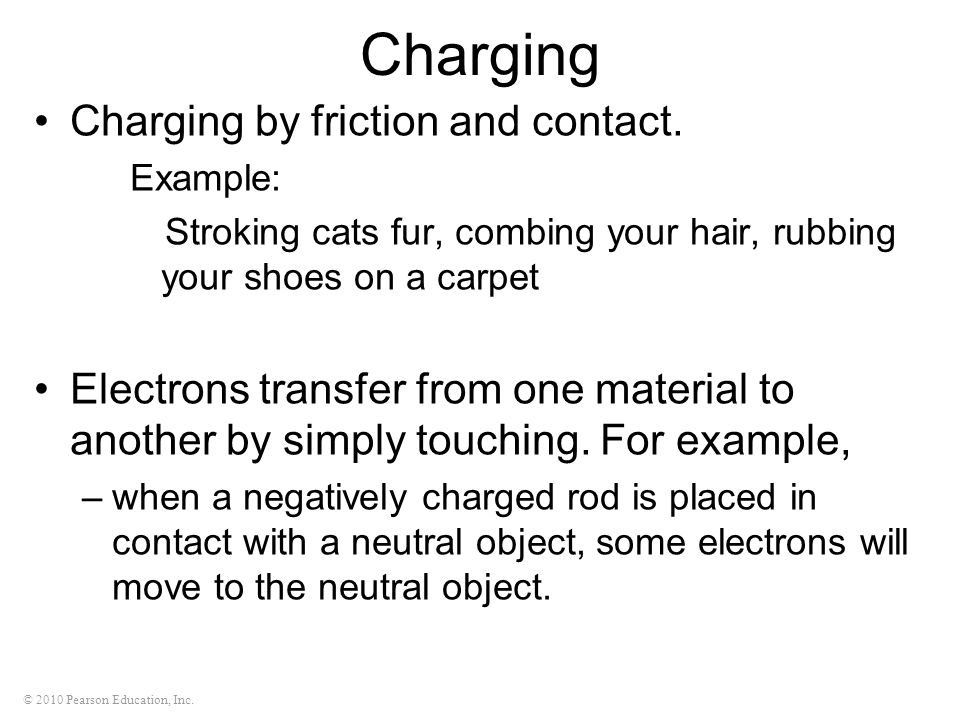 Charging Charging by friction and contact.