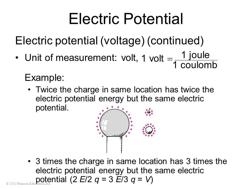 Electric Potential Electric potential (voltage) (continued)