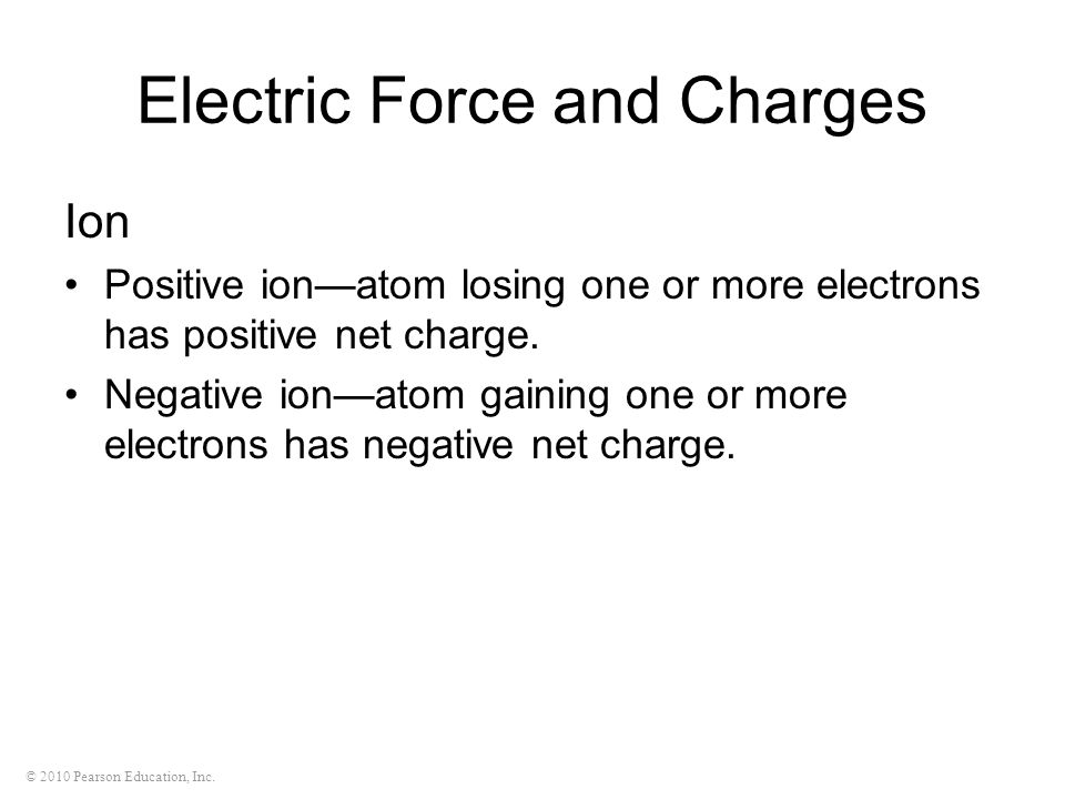 Electric Force and Charges