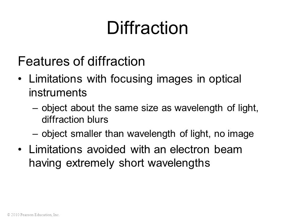 Diffraction Features of diffraction