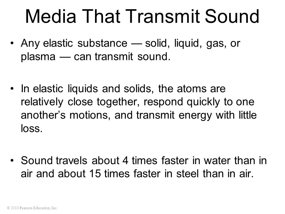 Media That Transmit Sound