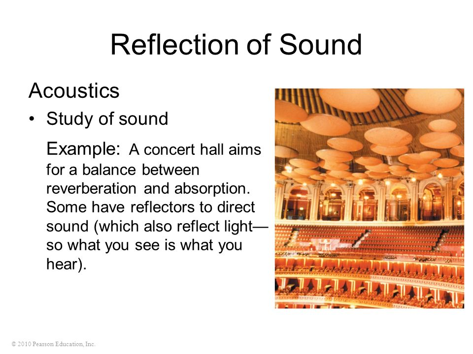 Reflection of Sound Acoustics Study of sound