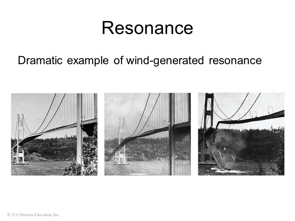 Resonance Dramatic example of wind-generated resonance