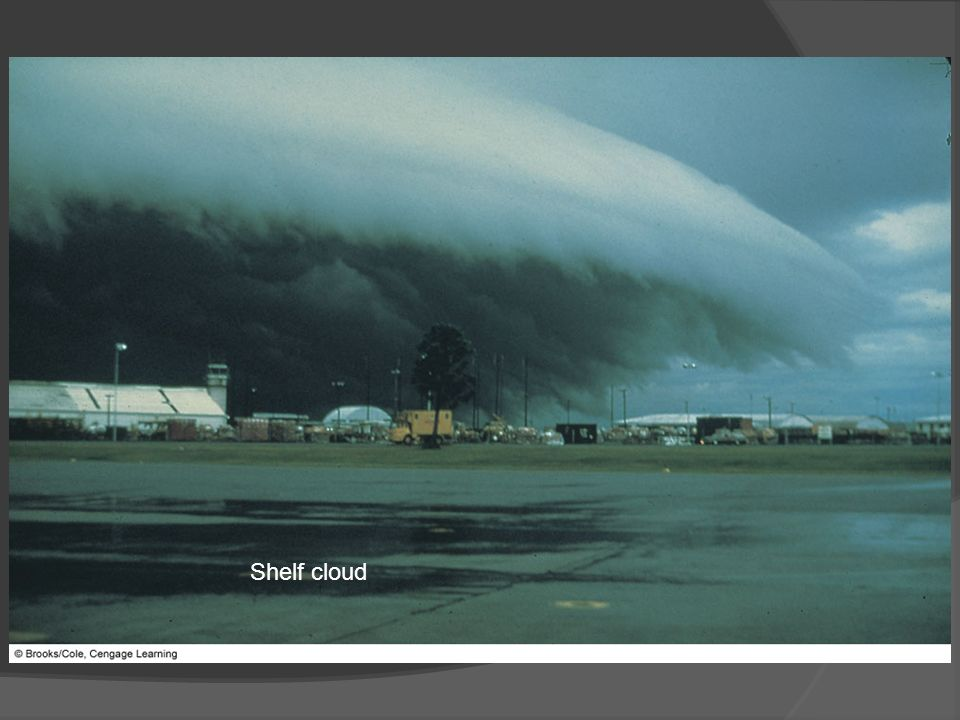 Shelf cloud FIGURE 14.7 A dramatic example