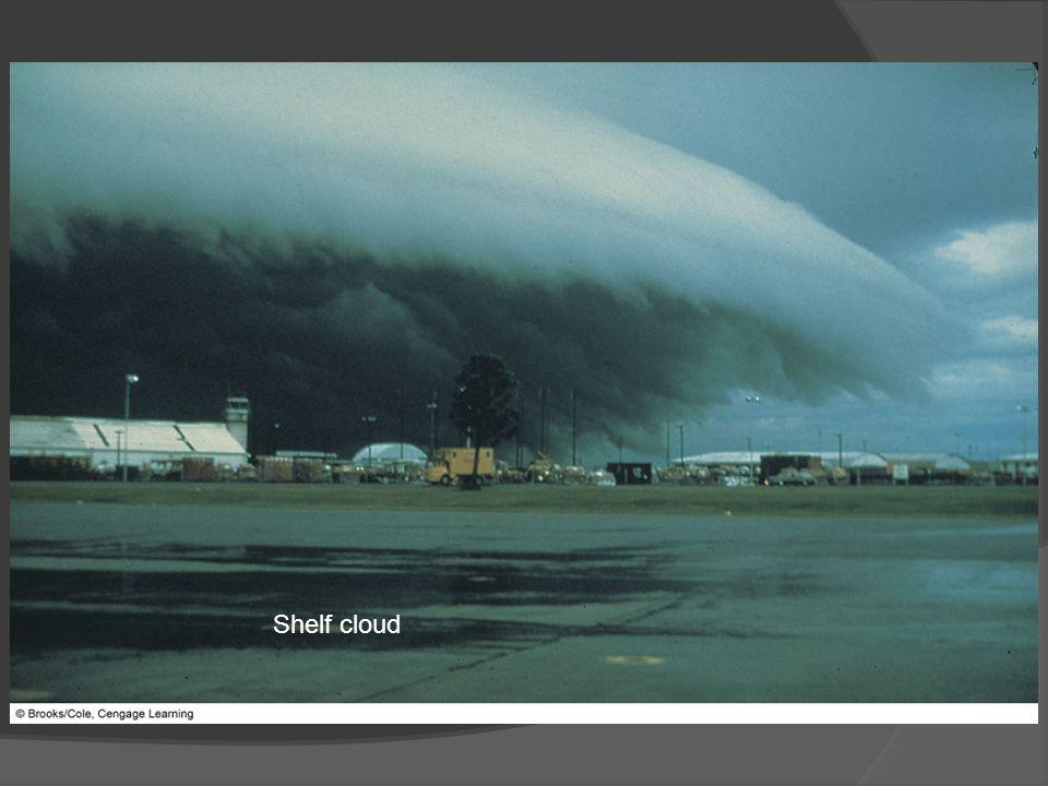 Shelf cloud FIGURE 14.7 A dramatic example