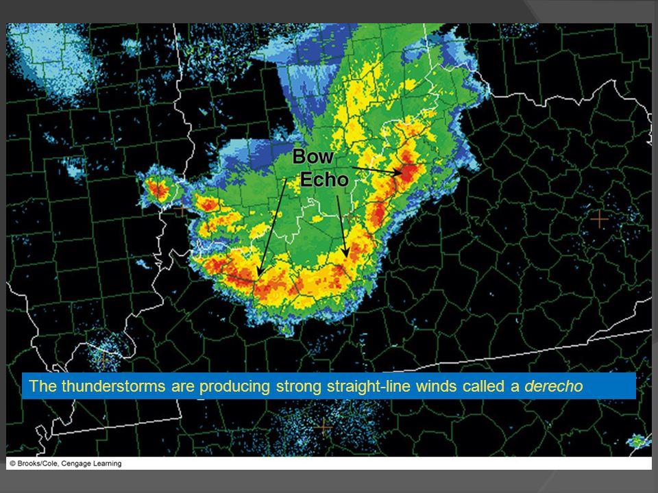FIGURE 14.16 The red and orange on this Doppler radar image