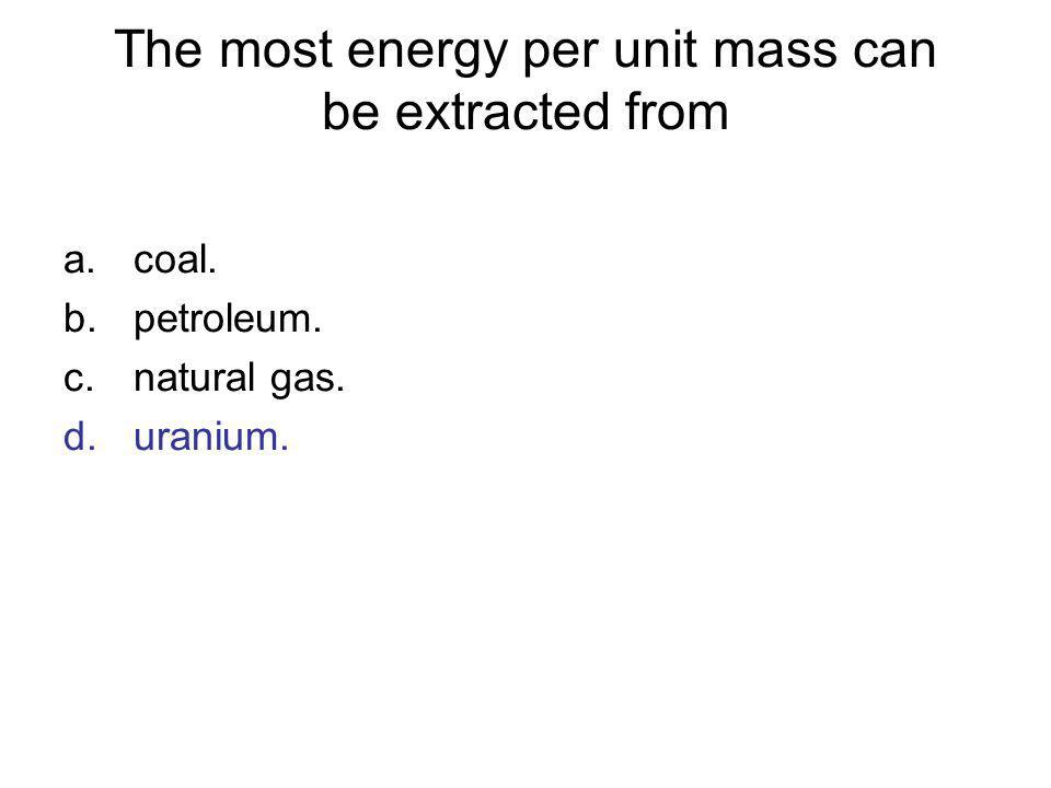 The most energy per unit mass can be extracted from