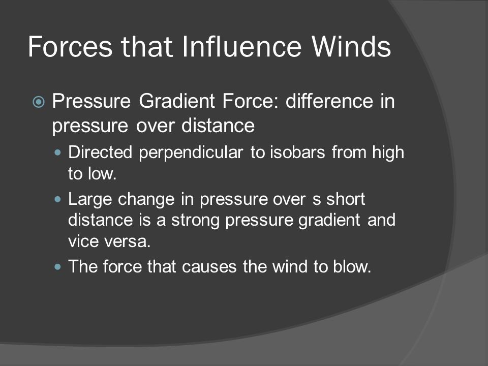 Forces that Influence Winds